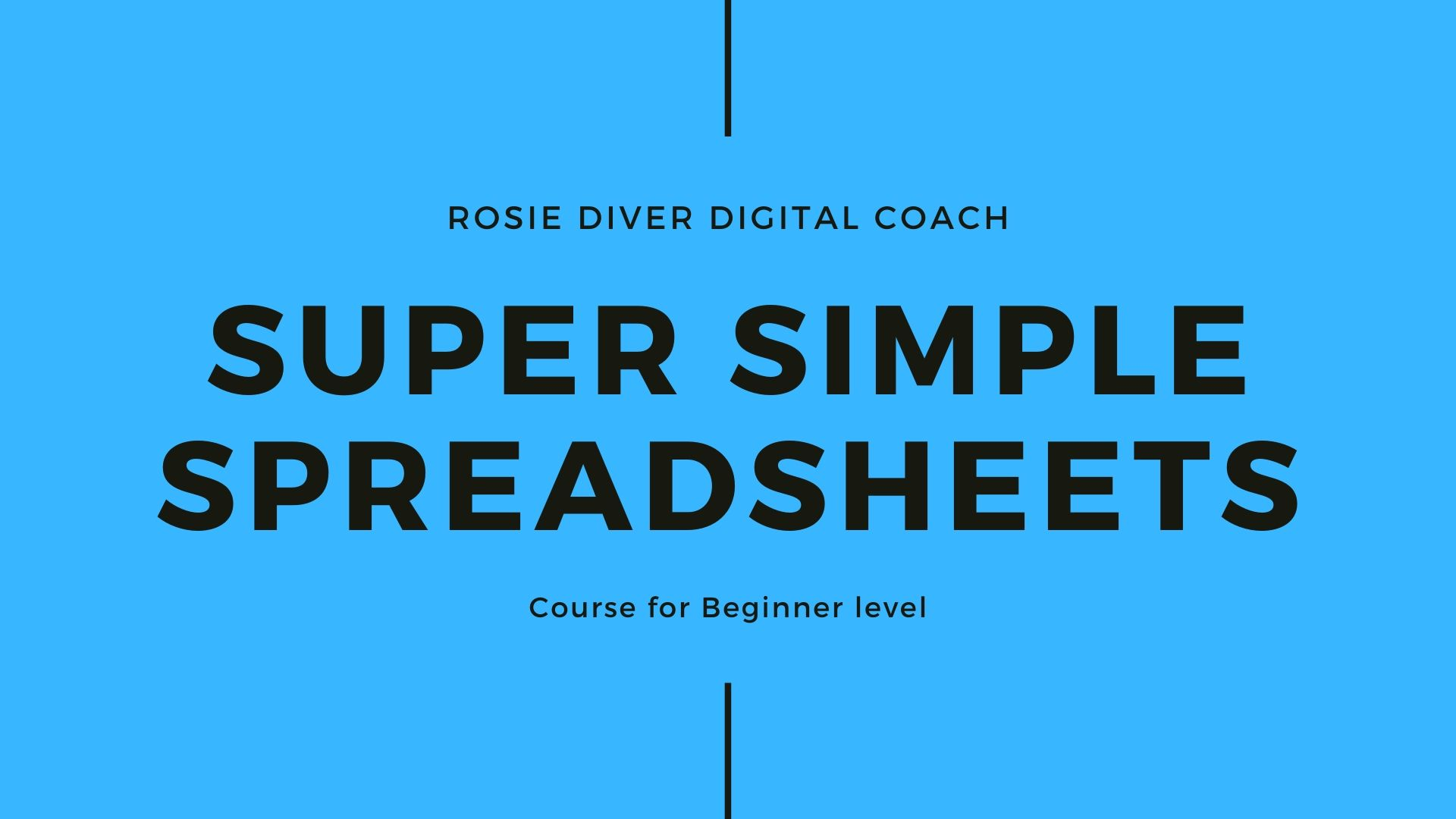 Super simple Spreadsheets for The Digital Coach